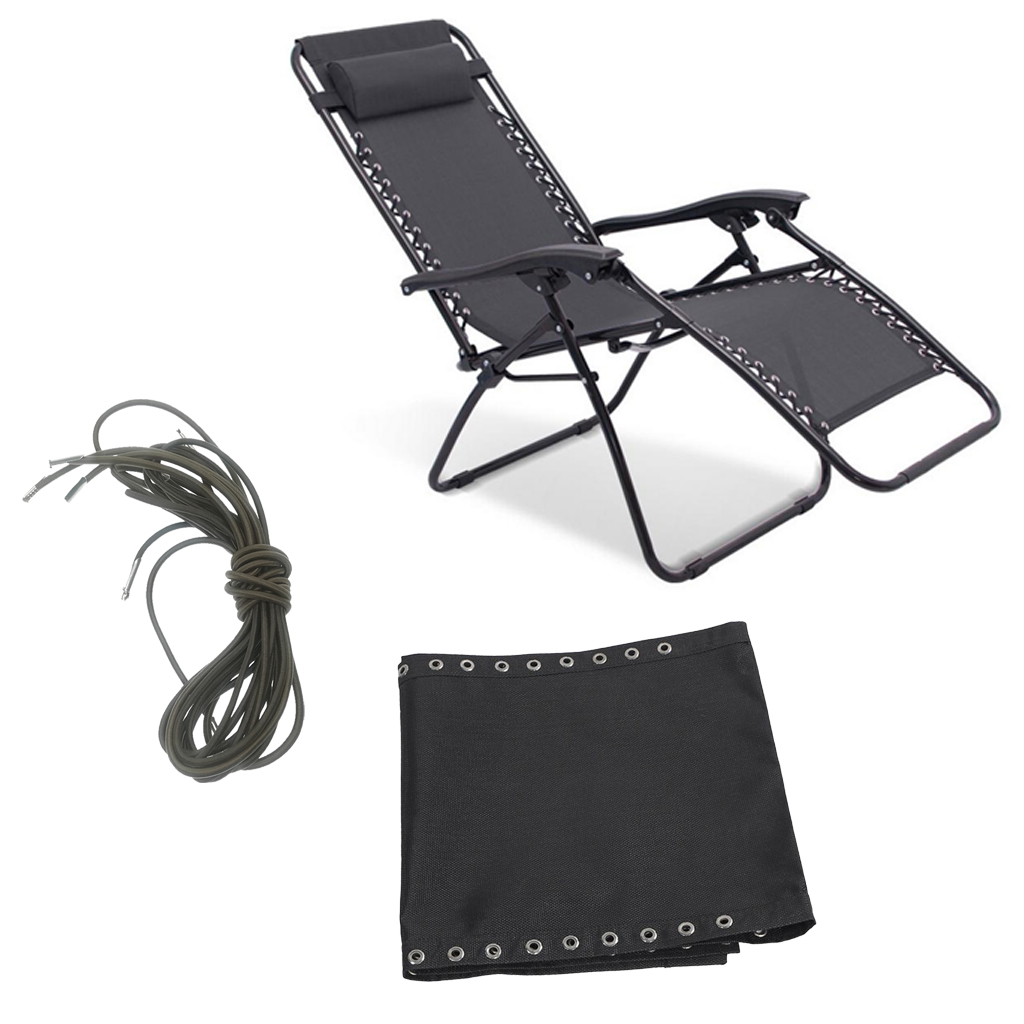 Outdoor Zero Gravity Lounge Chair with Ready Made Pouch Holes, Folding Patio Lawn Recliner