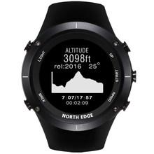 NORTHEDGE relógios digitais Homens esportes relógio relógio GPS Altitude Tempo Termômetro Barômetro Bússola Freqüência Cardíaca Mergulho caminhadas horas(China)