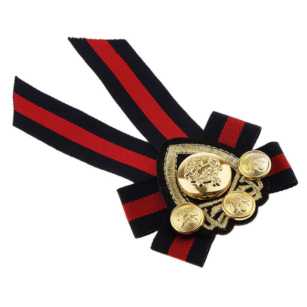 2pcs Wedding Party Bow Tie Pre-tied Brooch Pin Collar Shirt Badge Jewelry