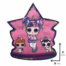 De dibujos animados parches de moda de las mujeres LoL muñeca encantadora de moda Niño bordado parche DIY de decoración lentejuelas de tela(China)