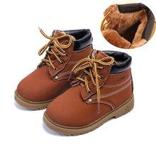 YWPENGCAI sonbahar kış çocuk kürk ayakkabı çocuk çizmeleri boyutu 21-30 yürümeye başlayan çocuk botları klasik tarzı Unisex erkek kız çizmeler(China)