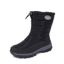 Fujin Schnee Stiefel Wasserdicht 6cm Plattform Stiefel Regen Plüsch Warme Pelz Innen Winter Schuhe Booties Zipper Frauen Winter Stiefel booties(China)