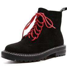Doratasia 2020 Size Lớn 43 Thời Trang Giày Bốt Martin Thương Hiệu Thiết Kế Cổ Chân Giày Người Phụ Nữ Giày Dây Giày Thoáng Mát Giày Nữ Giày N(China)