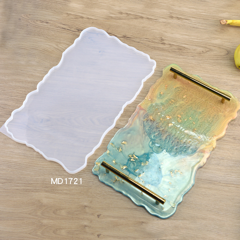 Silicone DIY Tray Artist Mold Irregular Coasters Resin Art Tray Mould