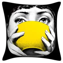 Dropshipping Pillow case Fornasetti Series for Art Bedroom A Living Room Home Hall Decorative Cushion Pillow Cover zara*women(China)