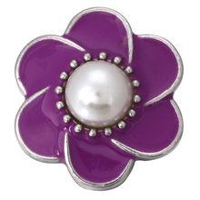 6 sztuk/partia nowy kwiat przystawki przycisk akcesoria Fit 18mm DIY Snap bransoletka przycisk biżuteryjny ZA1044(China)