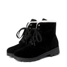 EGONERY kış yeni sıcak kar botları dış casual rahat yuvarlak ayak çapraz bağlı akın kadın ayakkabı damla nakliye boyutu 32-43(China)
