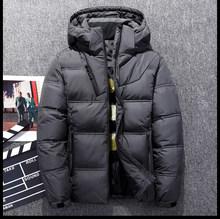Chaqueta de invierno con capucha gruesa a prueba de viento para hombre abrigo de nieve Casual para Hombre Ropa 2019 talla grande M-4XL(China)