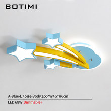 BOTIMI Stars Shaped Kids Ceiling Light For Bedroom Cartoon Cloud Boys Room Lighting Cute Pink Girls Lamps Blue Ceiling Lamp(China)