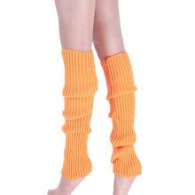 Boot Cuffs Warmer ฤดูหนาวถุงน่องขาถักอบอุ่นต้นขาสูงถุงน่องถักเข่าเข่าขาอุ่นสีดำสีเทาถุงน่อ(China)