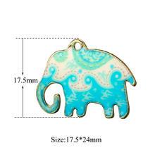 5 pçs/lote Esmalte Encantos Animais Elefante Gato Borboleta Pingente De Frutas Ovo Escalfado Garrafa De Leite para Fazer Brincos para as mulheres Meninas(China)