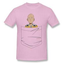 Caped Baldy Pocket One Piece Zoro Luffy New Design Casual T Shirt Crewneck Summer 100% Cotton Boy White Tshirt(China)