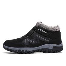Mode Männer Stiefel Hohe Qualität Split Leder Ankle Schnee Stiefel Schuhe Warme Pelz Plüsch Unisex Lace-Up Winter Schuhe plus größe 38 ~ 47(China)