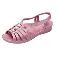 נשים בוהן ציוץ קיץ חוף סנדלי גבירותיי שקופיות סוכריות קשת שטוח סנדלי נשים קיץ נעלי zapatos de mujer tacon bajo # Y10(China)