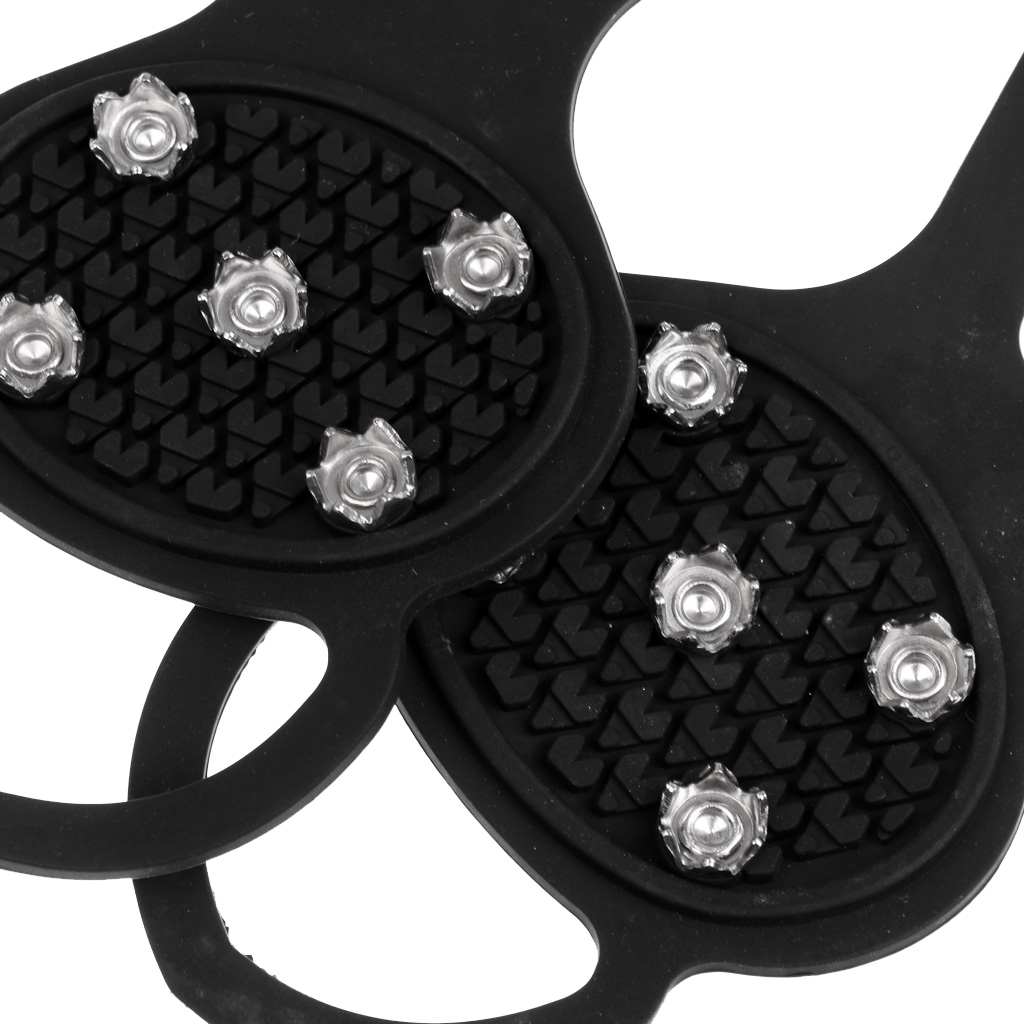 Durable Anti Slip Snow Ice Traction Cleats Studs Crampons Grippers Spikes Soles Boots Shoes For Hiking Climbing