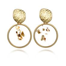 Vintage Pernyataan Drop Anting-Anting untuk Wanita 2020 Baru Bohemia Fashion Perhiasan Korea Logam Geometris Emas Ayunan Anting-Anting(China)