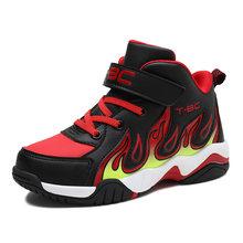 Phổ Biến Trẻ Em Giày Bóng Rổ Thoải Mái Bóng Rổ Trẻ Em Giày Chống Trơn Trượt Giày Sneaker Cao Cổ Chân Cho Bé Thoáng Mát Nam Sneakers(China)