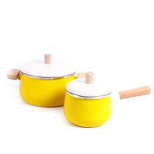 المينا إناء للحساء البسيطة قدر للحليب (لبّانة) مقلاة غير عصا وعاء طبخ مع غطاء المطبخ أطباق طباخ التعريفي موقد غاز إناء عميق(China)