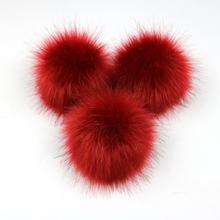 Nette Fox Fell Pompon Abnehmbarer Pelz Flauschigen Bobble Ball mit Drücken Sie Taste für DIY Hüte Mützen Taschen Kleidung Schuhe Decor 2018(China)
