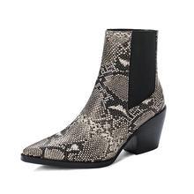 Spitz Chunky Ferse Chelsea Stiefel Frau Mode Komfort Hohe Ferse Stiefeletten Ladise Winter Schuhe Damen Casual Schuhe Frau(China)
