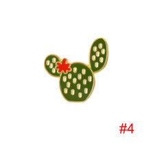 Dipinto Cactus Foglie di Acero Del Fiore Del Metallo Spille Spilli Pianta In Vaso di Stile Del Fumetto di Modo Accessori Dei Monili per il Regalo Del Partito(China)