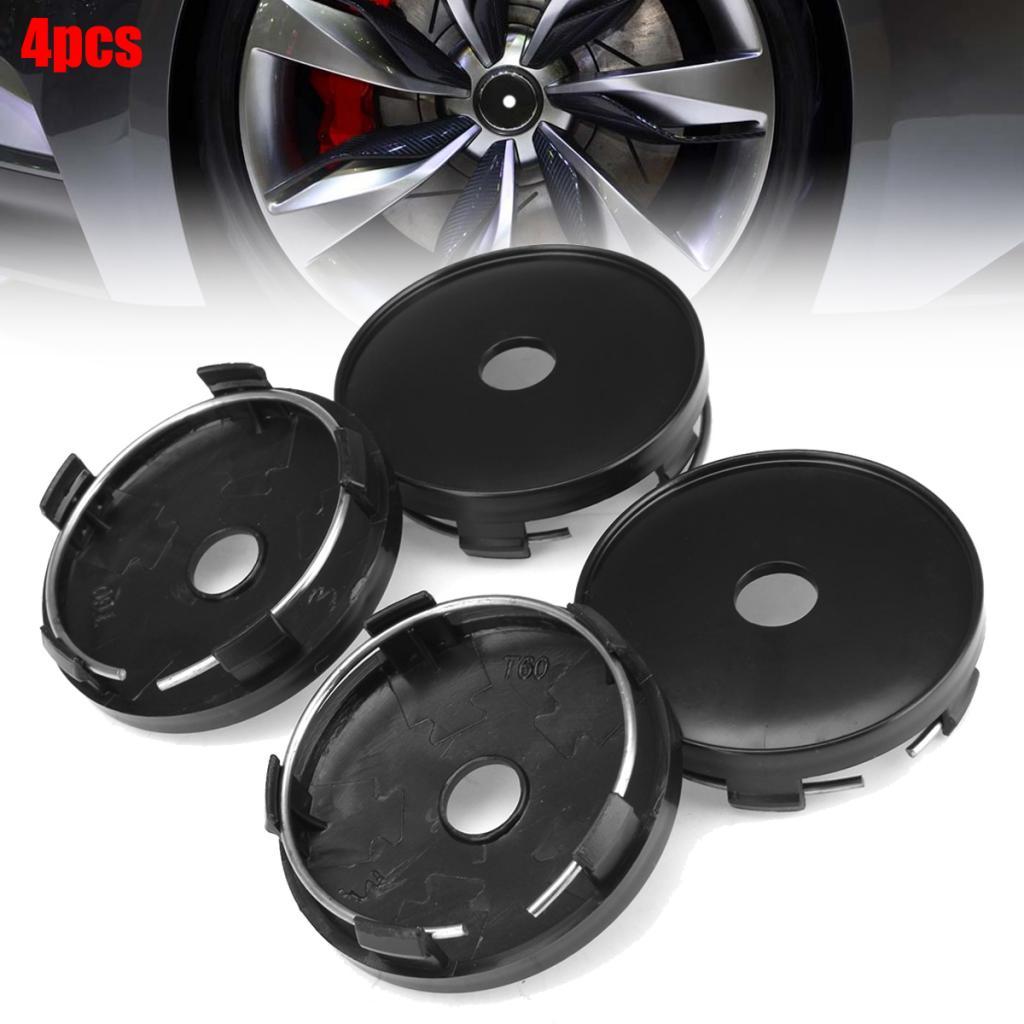 4 Pieces 60mm/ 54mm Wheel Center Caps Car Modification Hub Caps Black