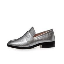 VAIR MUDO ฤดูใบไม้ผลิฤดูใบไม้ร่วงแฟชั่นผู้หญิงรองเท้าแบนสุภาพสตรีหนังแท้สีดำรองเท้าผู้หญิงขน...(China)
