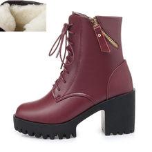 AIYUQI Vrouwen blote laarzen 2019 nieuwe lederen vrouwen laarzen natuurlijke wol warm vrouwen winter naakt laarzen mode vrouwen schoenen(China)
