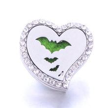 Boom Life aromaterapia serce zatrzaski perfumy medalion magnetyczny dyfuzor olejków eterycznych ze stali nierdzewnej Snap biżuteria(China)