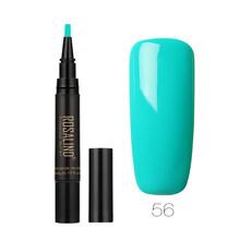 ROSALIND 5 мл Гель-лак для ногтей ручка все для маникюра отмачивается полуперманентный для дизайна ногтей гелевая ручка 58 чистых цветов верхняя ...(China)
