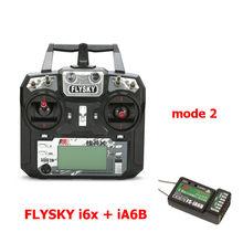 FLYSKY FS-i6X i6X 10CH 2,4 ГГц AFHDS 2A передатчика радиоуправляемой модели к компьютеру с X6B iA6B A8S приемник для RC Qaud небольшой гоночны(China)