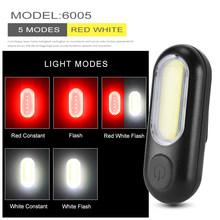 USB Rechargeable Avant Arrière Vélo Lumière Batterie Au Lithium LED Vélo Feu Arrière Vélo Casque Lumière Montage Lampe Accessoires Vélo(China)