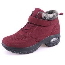 PINSEN Nieuwe 2019 Vrouwen Laarzen Hoge Kwaliteit Comfortabele Winter Warm Houden Laarzen Vrouwen Lace-up antislip Moeder schoenen Botas Mujer(China)