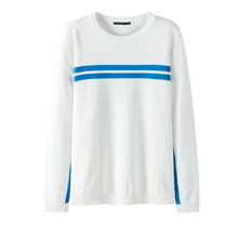 Semir 스웨터 남성 한국어 버전 봄 얇은 섹션 둥근 목 풀오버 스웨터 2019 새로운 대비 색 줄무늬 청소년 스웨터(China)