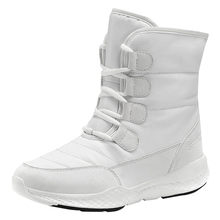 Artı kadife Martin kısa çizmeler kadın rahat tutmak sıcak pamuk su geçirmez ve rahat kar botları botas mujer invierno 2019(China)