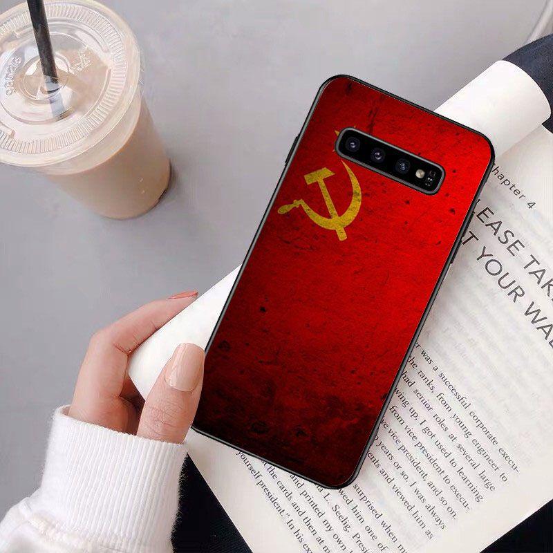 Soviet Union USSR Grunge Flag Painted