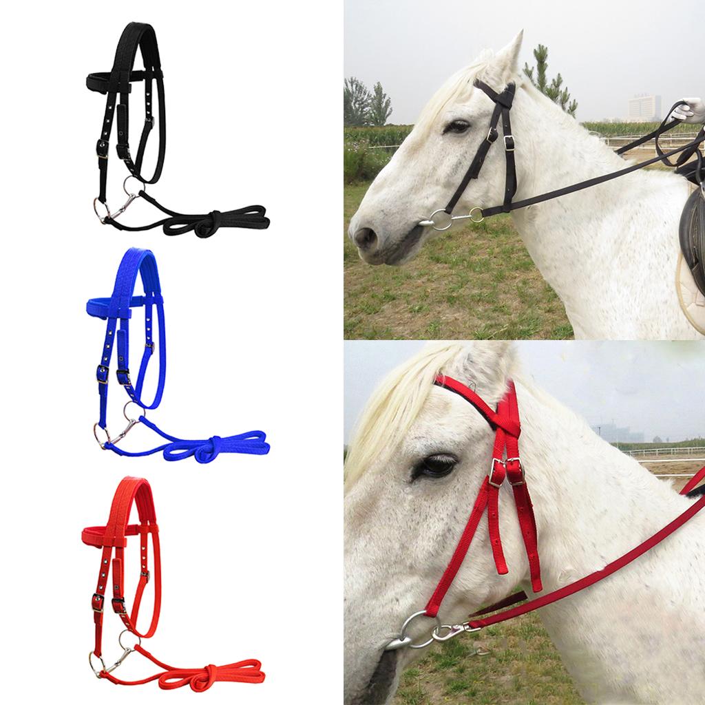 3x Durable 20mm Wedding Horse Bridle Adjustable Harness Headstall Halter