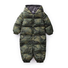 Winter Newborn Baby Clothes Jumpsuit Camouflage Warm Boys Snowsuit For Girls Hooded Overalls For Children Unisex Baby Romper(China)