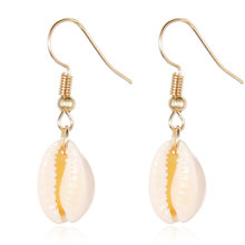 Baru Shell Liontin Perhiasan Set untuk Wanita Warna Emas 2PC Multilayer Kalung Anting-Anting Set Bohemia Perhiasan Afrika Perhiasan Set(China)
