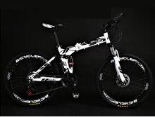 Новый карбоновая стальная рама горный велосипед 27 скоростей 24/26 дюймов колеса складной велосипед мягкий хвост Спорт на открытом воздухе го...(China)