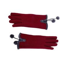 Bola peluda littens fofo inverno quente dedo cheio mão luvas de inverno moda feminina esqui vento proteger as mãos luva deri eldiven #5(China)