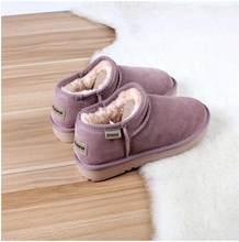 35-41 2019 yeni deri kar botları bayan botları kış ayakkabı sıcak pamuklu ayakkabılar artı kadife deri kar ayakkabıları kadınlar 805(China)