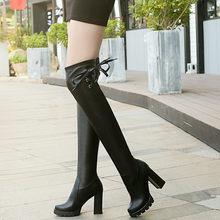 La MaxPa Kadın Fermuar Şövalye Çizmeler Yeni Gladyatör Bahar Ayakkabı Bayanlar Diz Çizmeler Boyutu 35-43 Kadın Botas Daireler ayakkabı(China)