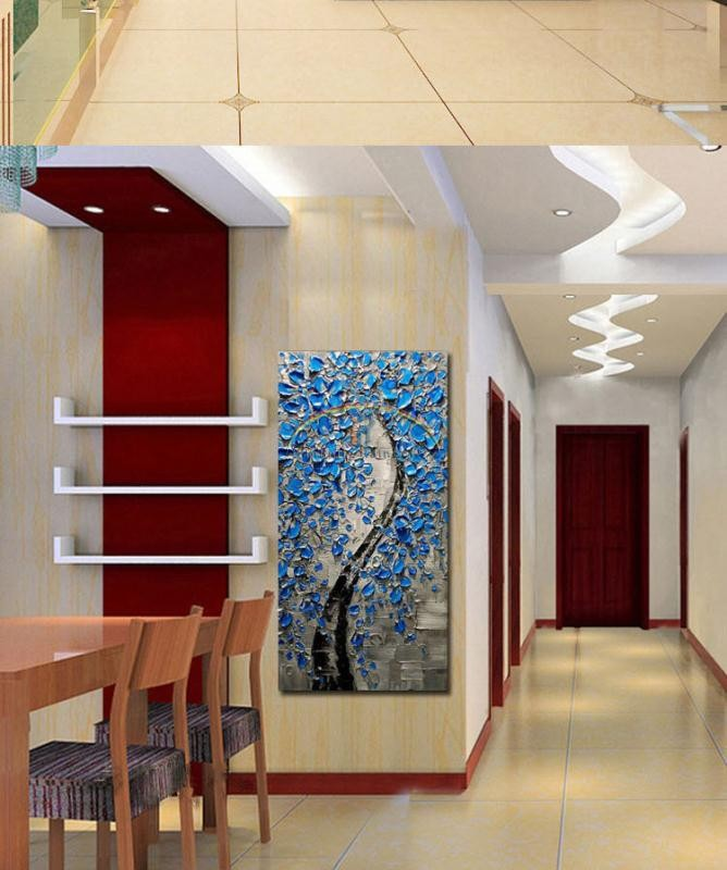 Buy 2016 Home Decor New Arrival Cuadros Fortune Tree Oil Painting Wall Art Handpainted Modern On Canvas Palette Knife cheap
