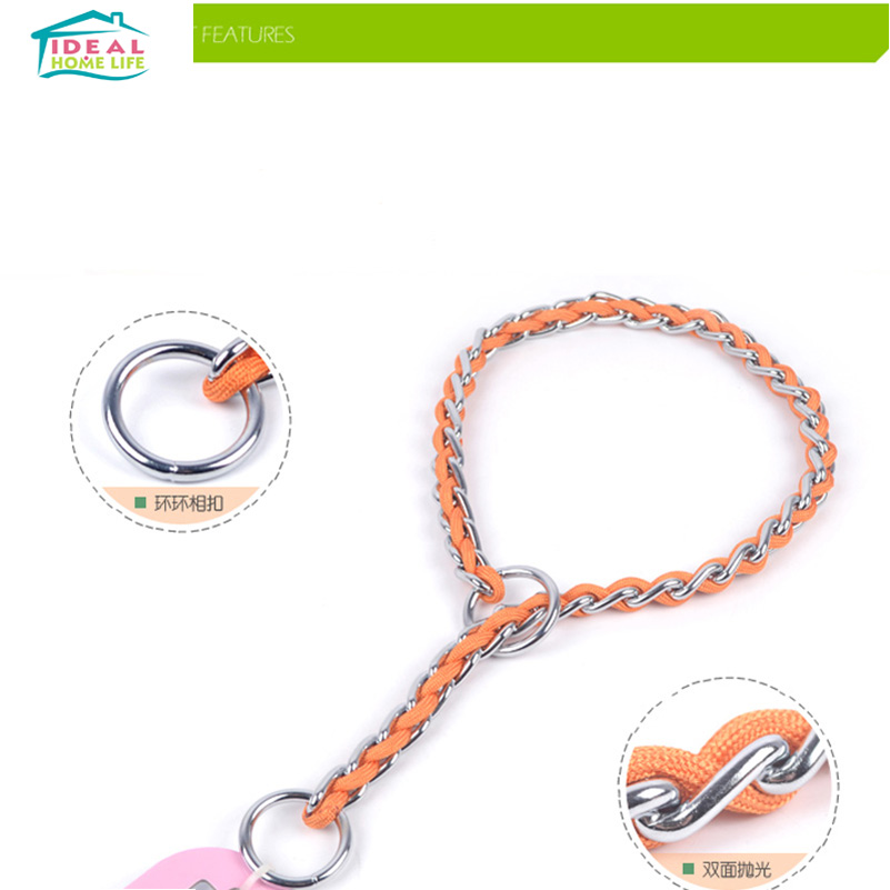 L Size High Quality Pet P Chain Adjustable Training Dog Collar Pet Dog Cat Necklace Colorful Pet Supplies(China (Mainland))