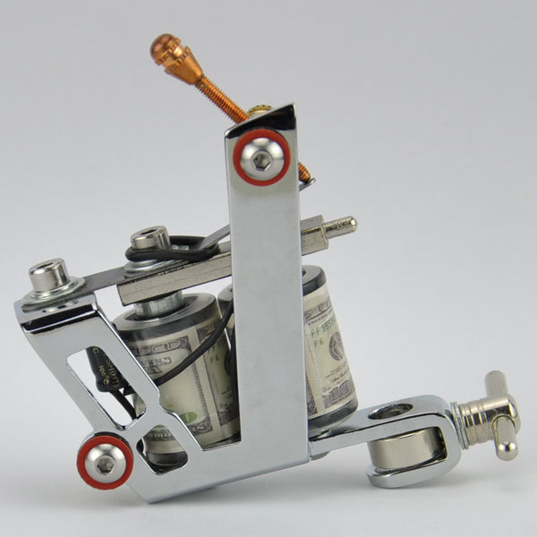 Stamping Carbon Steel Frame 8 Wraps Coil Dual coiled Tattoo Machine ...