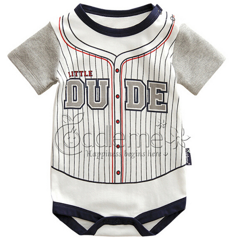 Baby Boy Bodysuits Clothing Cotton Infant Clothes New Design Summer Baby Short-Sleeve New Brand Clothes Kids Bodysuit Body Suits(China (Mainland))