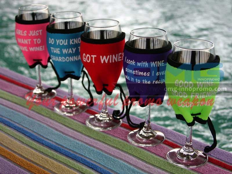 Neoprene Wine Glass Holder Sublimation Wine Glass Holder