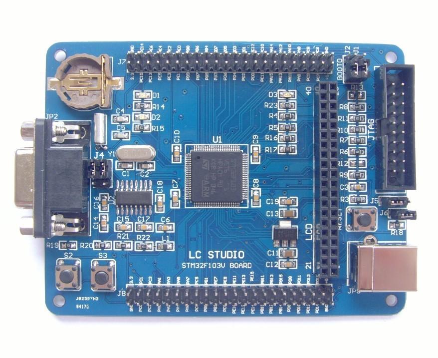 Free Shipping! 1pc ARM Cortex-M3 STM32F103VET6 STM32 development board + 2.4TFT Touch Screen
