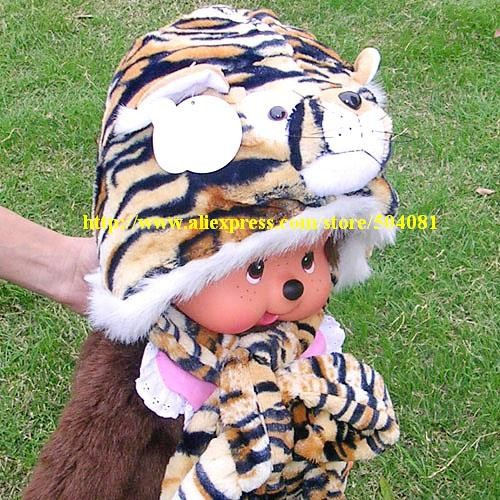 2016 Fashion Lovely New Plush Animal HatsTiger leopard Cartoon Soft Warm Hats Long Scarf/Gloves Winter Caps Free Shipping